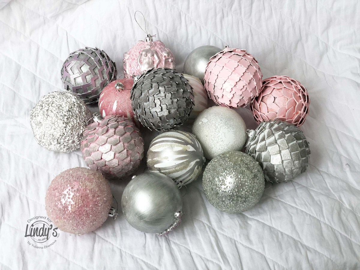 Mixed Media Christmas Ball Decorations with Yulianna Efremova